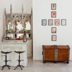 Home Bar Setup Victor Industrial Chic Barstools Long Window Gothic Bar Cabinet Frames Wall Decoration Marble Floor Unique Home Bar
