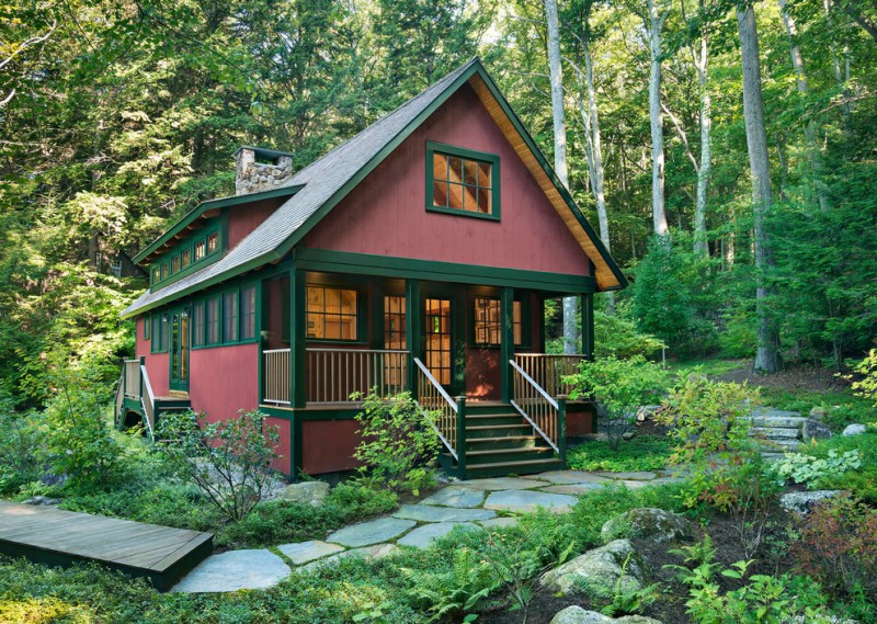 house plans for small homes plants trees stairs railings windows rustic exterior