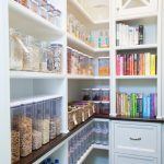 Industrial Open Shelving Unit For Clean Kitchen In White