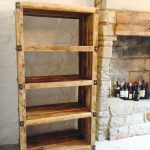Industrial Style Room With Industrial Shelving Unit Made Of Hardwood And Hardmetal Brackets
