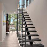 metal stair stringers staircase treads hardwood floors display rack chair modern design