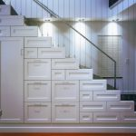 Metal Stair Stringers Storage Drawers Closed Cabinets Floors Cable Railing Windows Blinds Contemporary Design