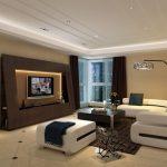 Modern Living Room Ideas Magazine Rack Modern White Sofa Standing Lamp Ottoman Black Coffee Table Tv Wall Unique Shelves With Lighting