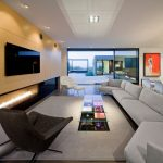 Modern Living Room Ideas Saarinen Large Womb Chair Wool Flannel Couch Glass Coffee Table Hand Wooven Wool Rug