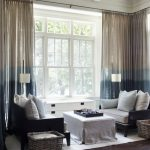 Ombre Curtain Blue To Brown