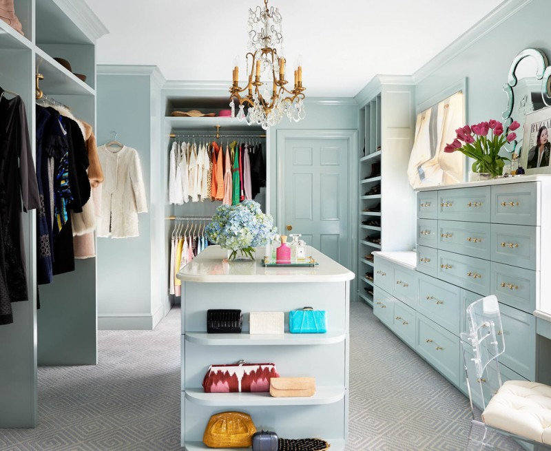 purse storage ideas island in closet light blue cabinets mini crystal chandelier open shelves shoe shelves unique frame mirror glass chair with white cushion