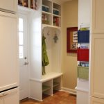 Small Mudroom Ideas Blue Seagrass Nested Square Orchard Baskets Hanging Storages Coat Hooks Open Shelves Frame
