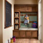 Small Mudroom Ideas Low Pole Handle Wicker Storage Basket Dragonfly Coat Hook Rack Blackboard Glass Door Wood Floor