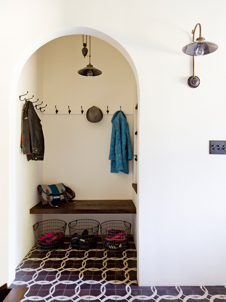 small mudroom ideas wire baskets industrial light pendant iron old country double arm hook beautiful patterned floor tile arch small mudroom wood mounted bench mounted storage