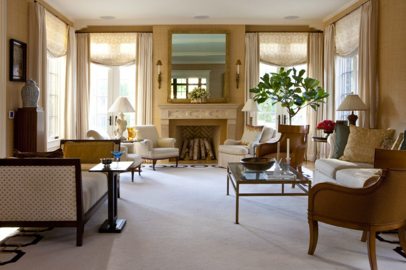 valances for living room patterned valances cream drapery elegant furniture plant decoration large mirror fireplace with mantel