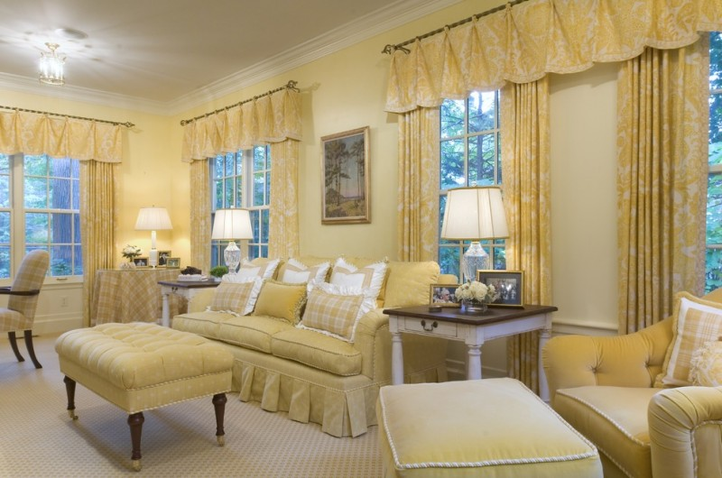 valances for living room yellow white curtains and valances yellow and white furniture wooden side table chandelier
