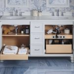 Vanity Organization Ideas Keelson Widespread Bathroom Sink Faucet Vanity With Legs 2 Doors 3 Drawers Adjustable Shelf With Electrical Outlets