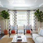 White Curtain With Blue Polkadot Pattern