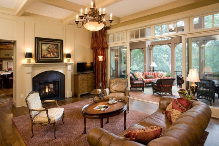 White Roman Shades Living Room