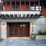Canopy Pergola Wooden Garage Door Garage Window Garage Number Wall Sconce Shingle Siding Paving Stairs