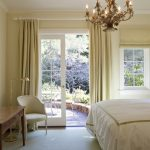 Curtains For French Doors Antique Chandelier Window With Shade Light Beige Curtain Bedroom Table Lamp White Curtain Rod