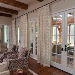 Curtains For French Doors Bolder Fabric Chairs Simple Fabrics Sofas Big Wood Beams Patterned Curtain Wood Flooring Long Curtain Rod