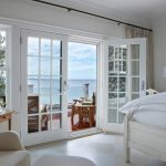 Curtains For French Doors White Bedroom Dark Curtain Rod Silk Cream Curtain Side Table White Table Lamp Deck White Bedding