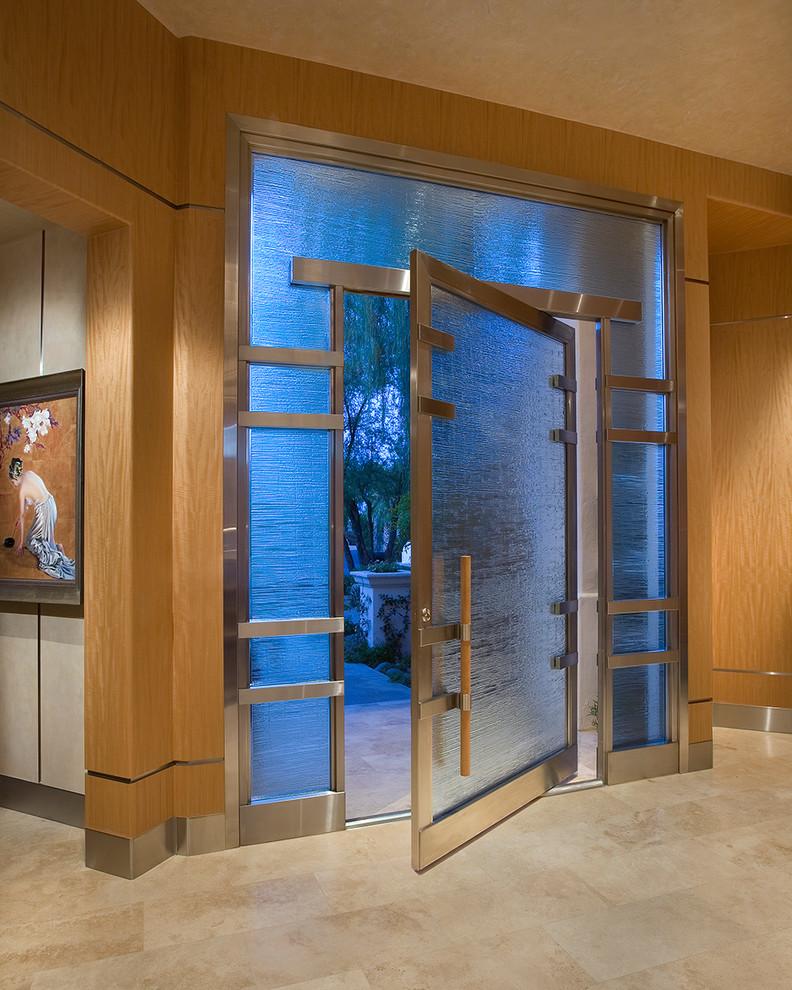 front doors with glass frosted glass front door frosted glass windows metal molding metal trim beige ceiling unique front door