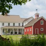 Pole Barn House Plans Red And White House Windows With White Frame Gable French Doors Metal Roof Grass Seat Porch Outdoor Lighting