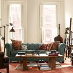 Pottery Barn Living Room Chesterfield Grand Sofa Cfl Warren Pulley Metal Task Floor Lamp With Rustic Iron Finish Hastings Reclaimed Wood Coffee Table