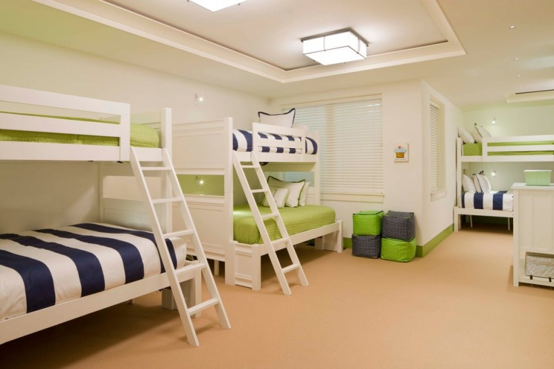 queen size bunk beds perzel light fixtures windows with shutters triple bunk beds blue white and green bed sheets storage