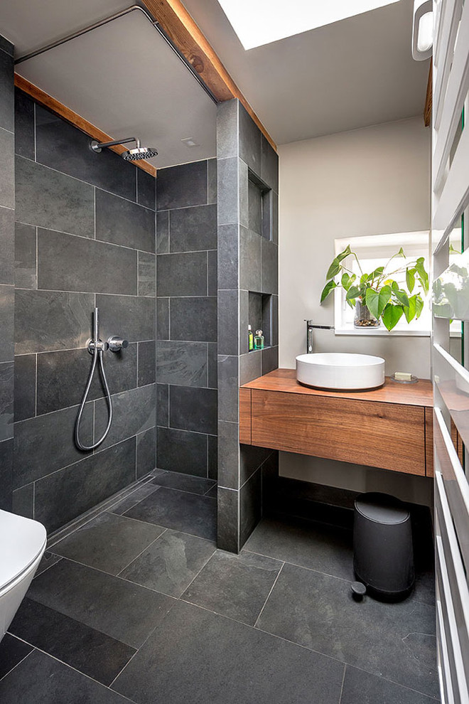 dark tile bathroom ideas renovating your bathroom with these enticing walk in 17121