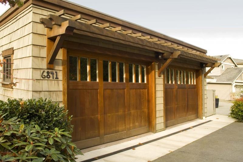 wooden garage two car garage trellis shingles pergola garage number