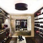 Mirrored Closet Shoe Racks Open Shelves Dark Cabinet Closet Bench Cabinet Holder Built In Cabinet Ceiling Light Sconce Wall Decoration
