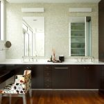 Make Up Counter In Vanity With Fold Up Mirror, Cabinet Inside The Table