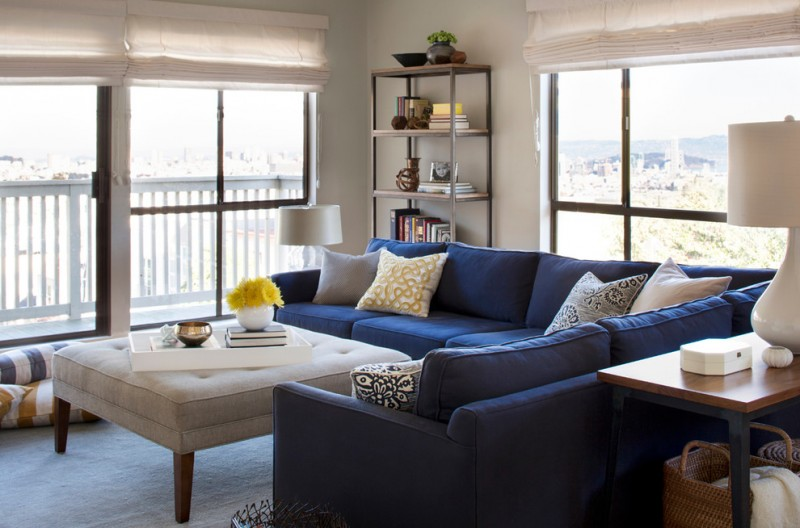 blue sofa homestar 4 shelf bookcase throw pillow with solid stone gray accent mitchell gold martin sectional large rectangle lacquer trays floor pillow