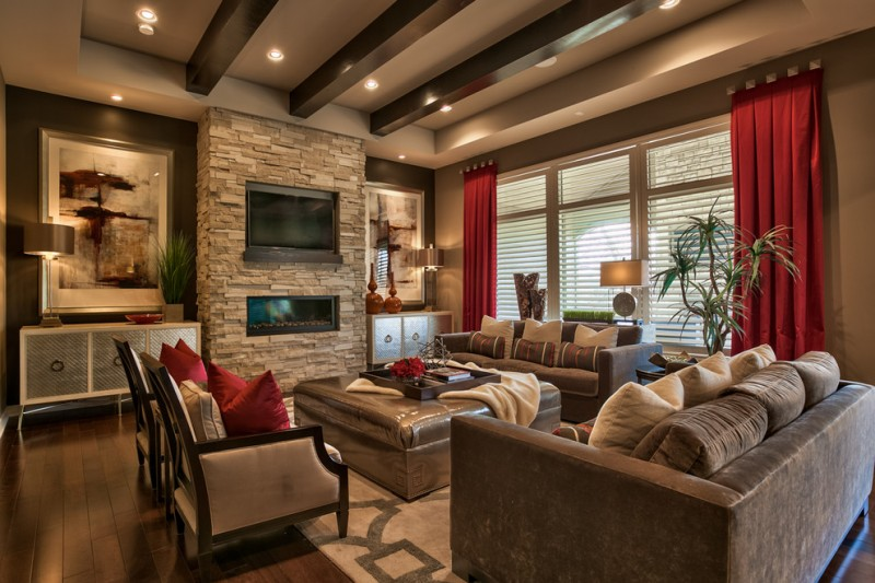 brown beige and red living room impressive brown living room options for your home decohoms 24357