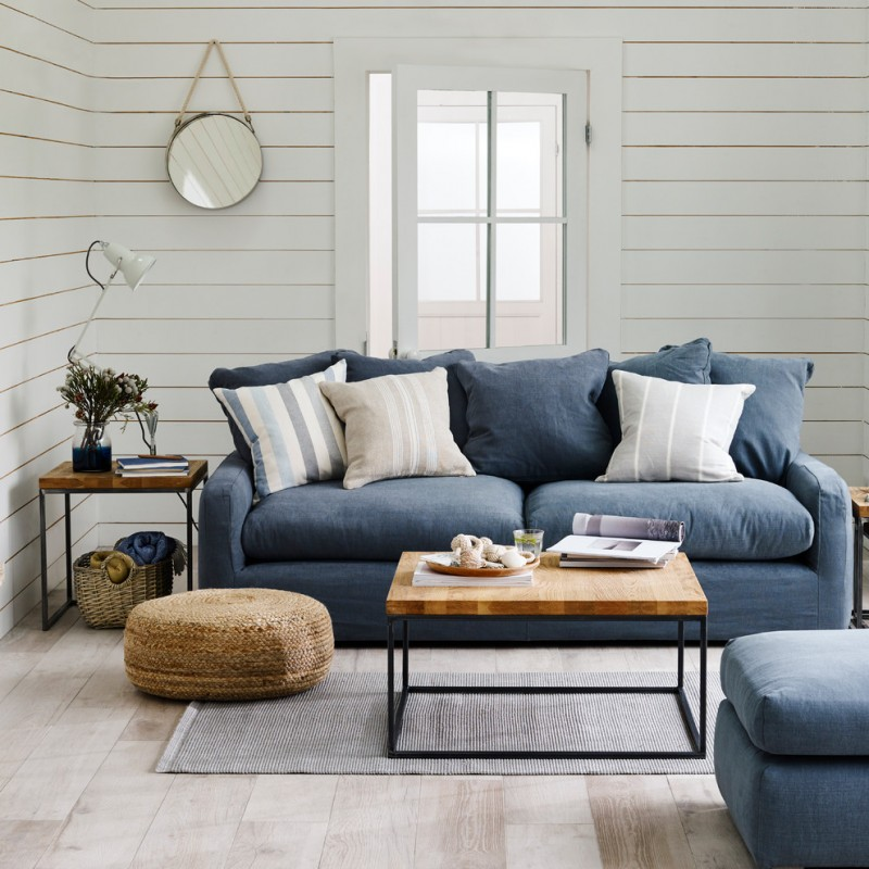 floor couch cofee table side table john lewis jute pouffe boucle mat circle hanging mirror small area rug wooden floor window