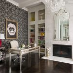 Office Wallpaper Modern Pansies 1 Art Bolsover Large Venetian Mirror Silver And Clear Table Fireplace Chandelier Beige Office Chair Silver Storage Table Lamp