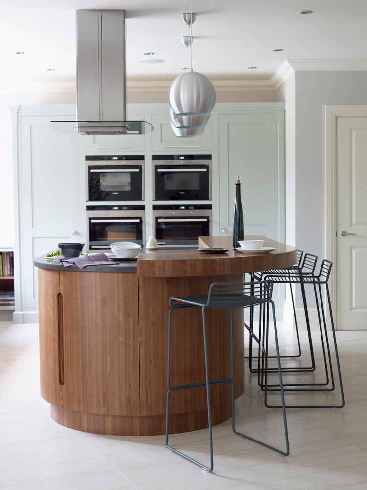 curved kitchen island black high chairs curved breakfast bar granite worktop hand painted cabinet wood kitchen island silver pendants
