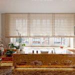 Gold Bathroom Blinds Built In Bath Orchids Sheer Blinds Toe Kick Lighting Window Above Bath Recessed Lightings Glass Doors Towel Rack Tub
