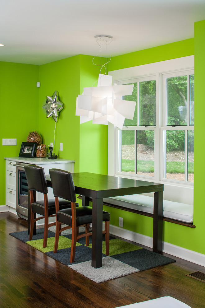 green dining room window seat black dining table and chairs foscarini big bang suspension lamp artecnica surprise mirrored lamp carpet tile