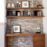 Wooden Wall Shelves Clear Ghost Chair Office Desk With Drawers Stone Wall Gallery Bright Floor Tray Open Shelving Candles