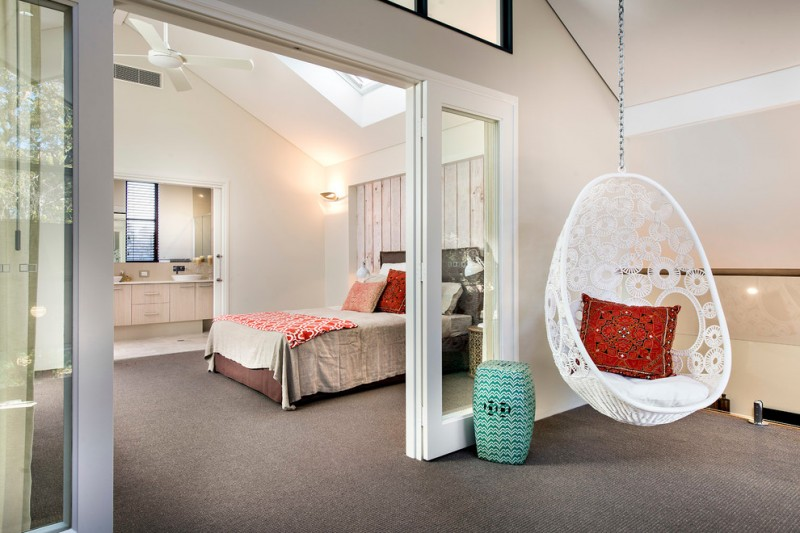 hanging papasan chairs white hanging chairs with chick patterns grey carpet doors bed bathroom vanity accent wall