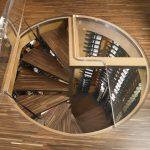 Plexinglass Wooden Floor Spiral Staircase High Wine Racks