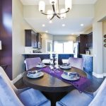 Purple Accent Walls Bowring Cara Felt Runner In Dark Purple Blue And Purple San Diefo Dining Chairs Chandelier Round Dining Table