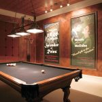 Black Felt Pool Table Ceiling Lights Arts Wall Poster Hanging Lamps Theater