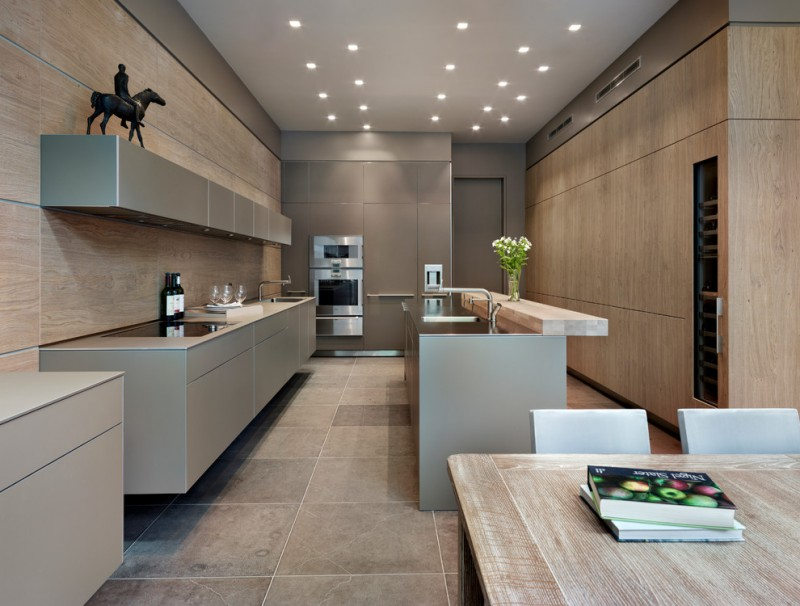 floating kitchen cabinets recessed lighting grey cabinets grey island countertops wood countertop flat panel cabintes undermount sinks