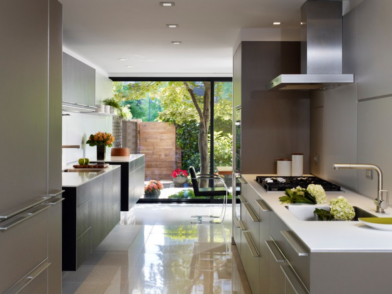 floating kitchen cabinets two floating cabinets undermount sink modern faucet range hood flat panel cabinets gas stove