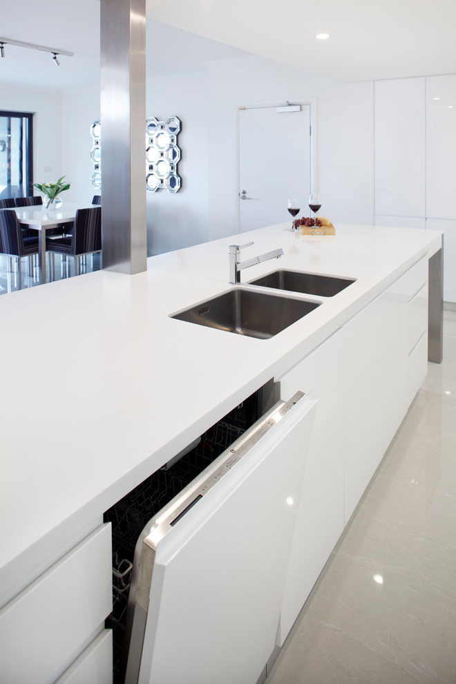 kitchen islands with sinks and dishwashers white island white countertop modern drawers double sink faucet dining table and chairs