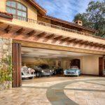 Pergola Glass Door Beam Balcony Stone Wall 4 Car Garage Driveway