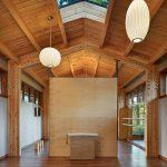 Pendant Lights High Ceiling Skylight Wooden Floor Room Divider