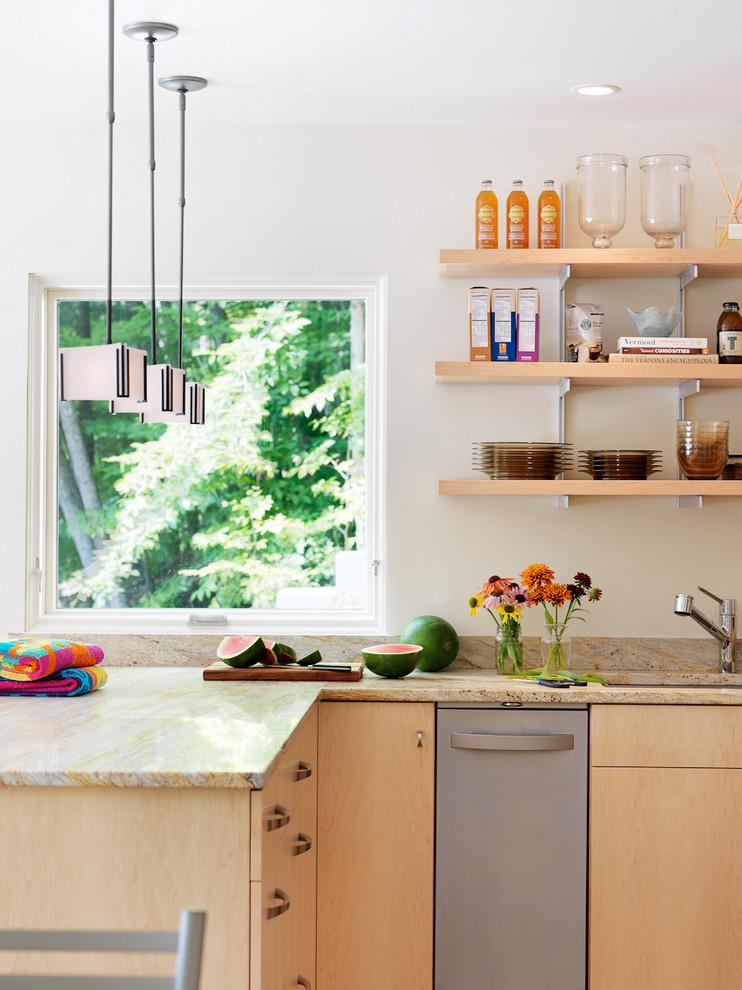 diy wooden shelf bracket ling stainless brackets wooden shelves white wall window beige countertop dishwasher sink pendants cabinets
