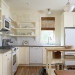 Diy Wooden Shelf Bracket Painted Wooden Bracket Wooden Shelves Grey Countertop Stove Microwave Oven Cabinets Island