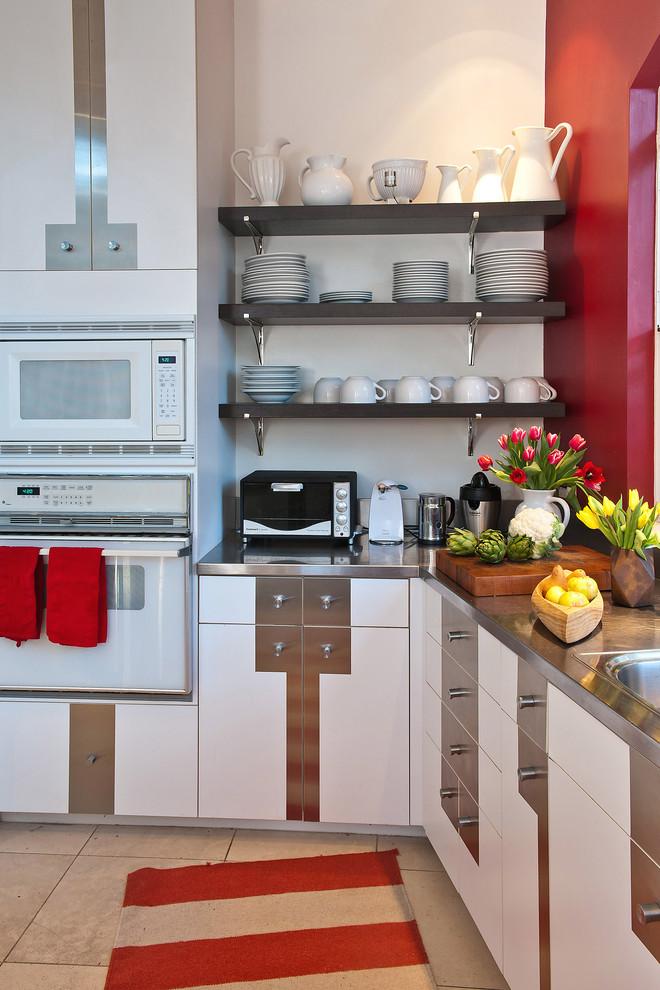 diy wooden shelf bracket stainless brackets black shelves microwave oven kitchen mat countertop sink drawers
